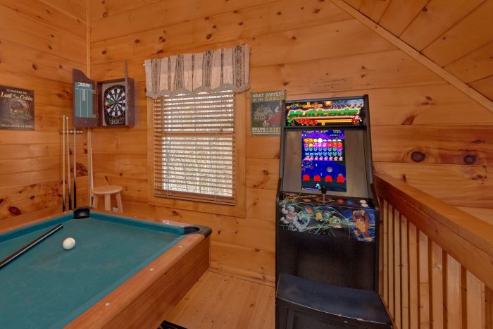 Pool Table in Game Room - A Beary Special Place