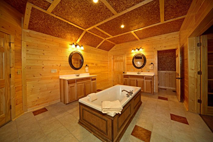 Master Suite Bathroom in Cabin - A Friendly Forest