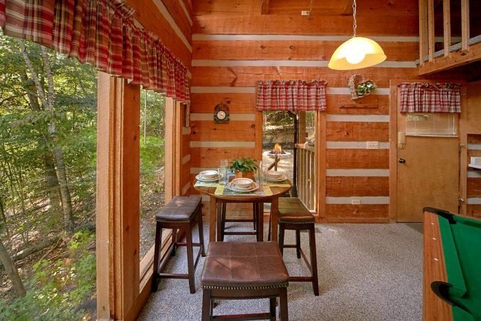 Cozy Honeymoon Cabin with Dining Nook - A Hummingbird Hideaway