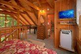 King Bed in Loft in 2 Bedroom Cabin