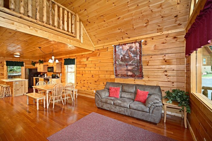 Furnished Living Room - A Mountain Lodge