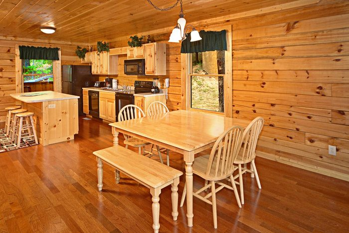 Cabin with Dining Table - A Mountain Lodge
