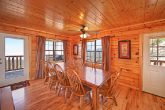 Large Dining table in Smoky Mountain cabin.