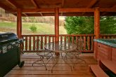 2 bedroom cabin with covered porch and gas grill