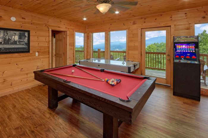 Gatlinburg 5 Bedroom Cabin with a Pool Table - A View From Above