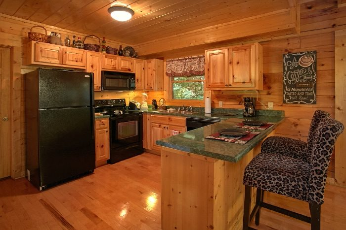 2 Bedroom Pigeon Forge Cabin with Full Kitchen - All Tucked Inn