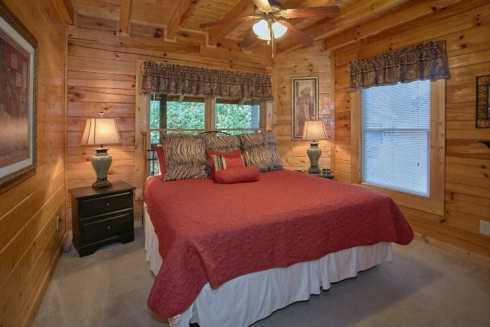 Resort Cabin with 2 King Bedrooms and Jacuzzi - All Tucked Inn
