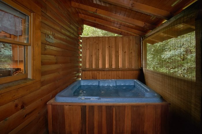 2 Bedroom Cabin with Hot Tub and Resort Pool - All Tucked Inn