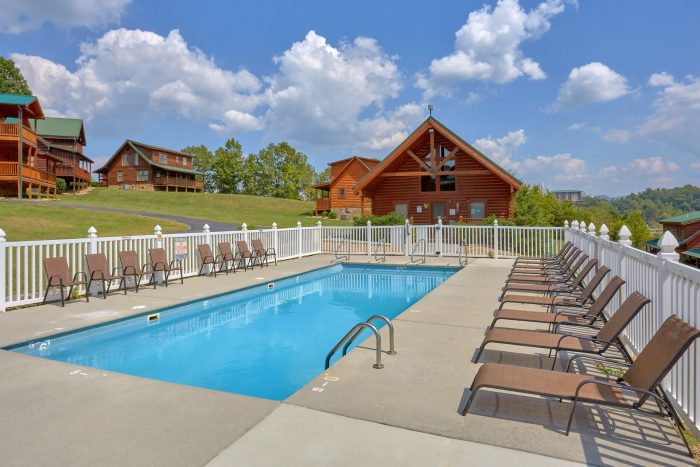 Cabin with Resort Pool Access - All Tucked Inn
