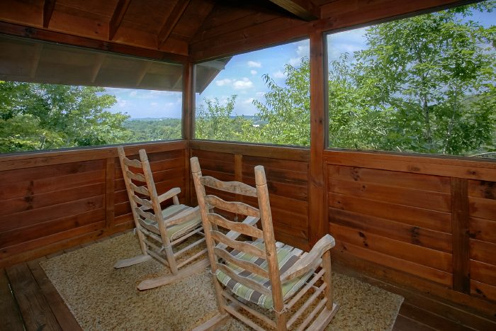 Deck with Mountain Views and Rocking Chairs - Angel's Ridge