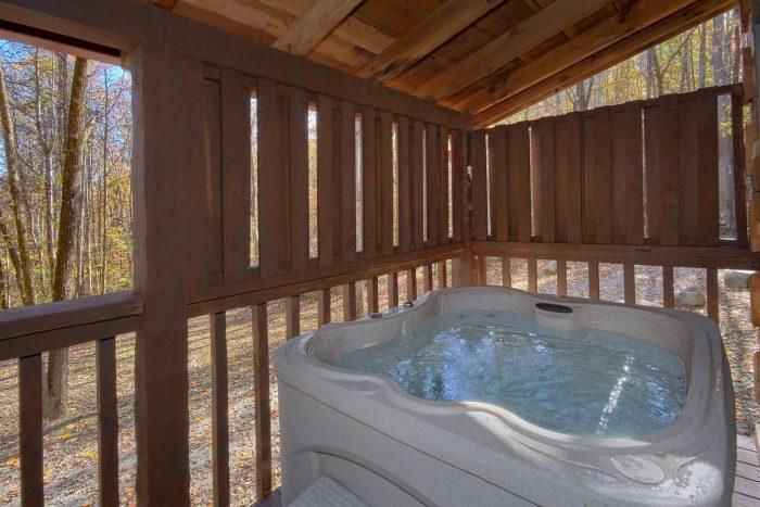 Private Hot Tub 1 Bedroom Cabin Sleeps4 - Bare Kissin And Huggin