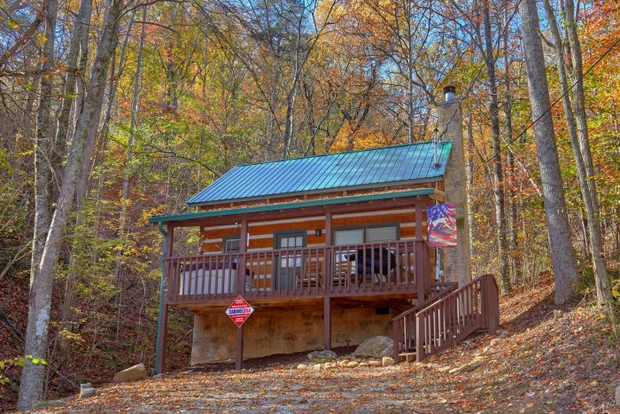 1 Bedroom Honeymoon Cabin in the Woods - Bare Tubbin