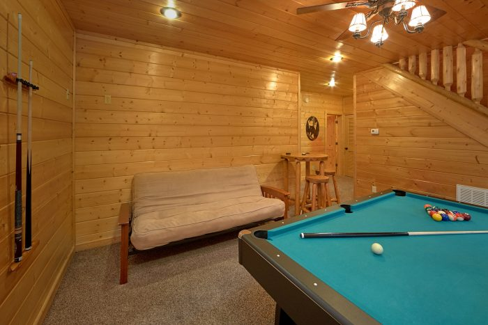 Cabin with A Futon in Lower-Level Game Room - Bear Creek Lodge