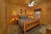Smoky Mountain Cabin Lower-Level Bedroom