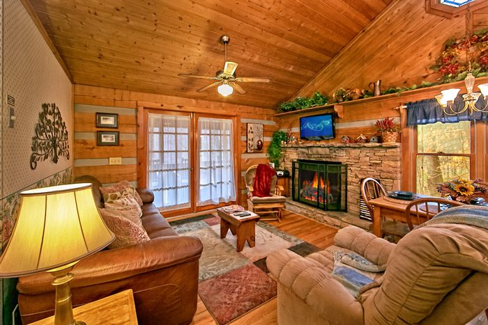 Cabin with Gas Fireplace - Bluff Haven