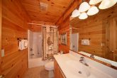 Spacious Bathroom in a 1 Bedroom Cabin Rental