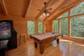 Smoky Mountain cabin with a pool table