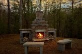 Stone Firepit at 1 Bedroom Honeymoon Cabin