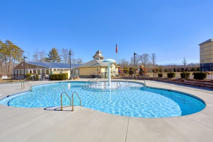 Outdoor Resort Swimming Pool with Waterfall - Mountain View 2704