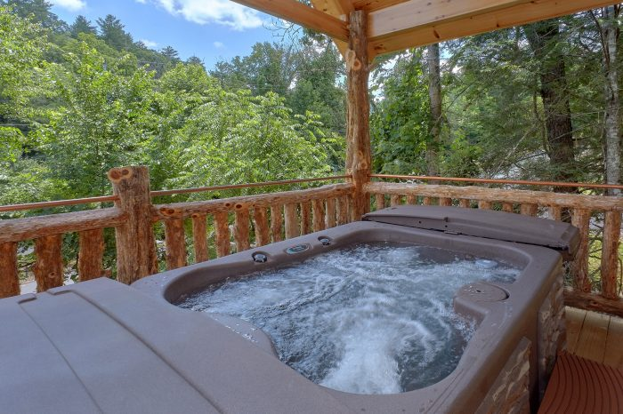 Honeymoon Cabin with Hot Tub on the deck - Out On A Limb