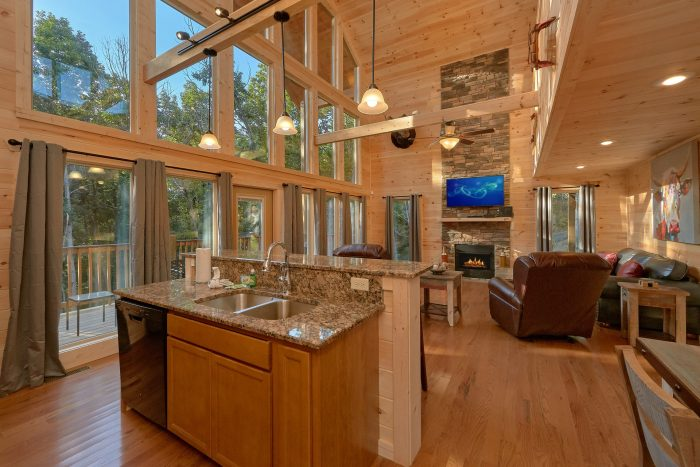 Cabin with Wooded View and Private Deck - Pool N Around