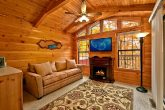 Cabin with Sleeper sofa and fireplace