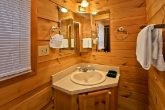 Cabin with bathroom and shower