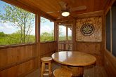 Cabin Featuring a Great Dart Board
