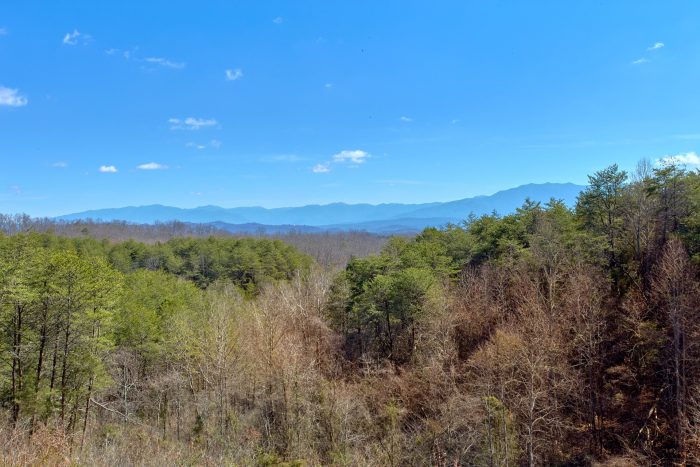 View of the Smoky Mountains from cabin deck - Star Gazer