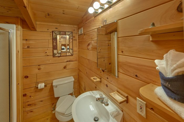 Private 2 Bedroom Cabin with Indoor Pool & Deck - The Waterlog
