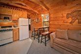 Cabin with full size sleeper sofa